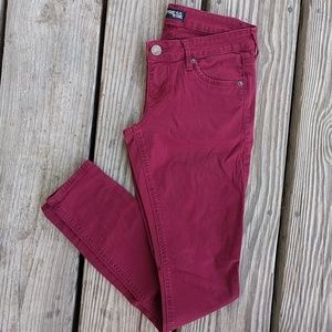 Express Red Skinny Jeans Size 2